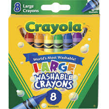 Crayola 8 ct. Large Ultra-Clean Washable Crayons - Finnegan's Toys & Gifts