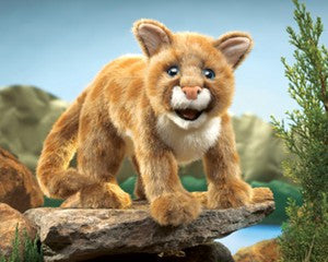 Mountain Lion Cub Puppet - Finnegan's Toys & Gifts
