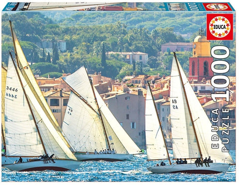 Sailing at Saint-Tropez - 1000 Piece Puzzle - Finnegan's Toys & Gifts