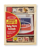 Wooden Stamp Set - Baby Farm Animals - Finnegan's Toys & Gifts - 1