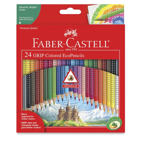 Faber-Castell 24 GRIP Colored EcoPencils - 24 Colors - Finnegan's Toys & Gifts