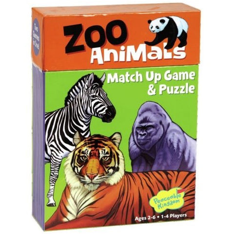 Zoo Animals Match Up Game & Puzzle