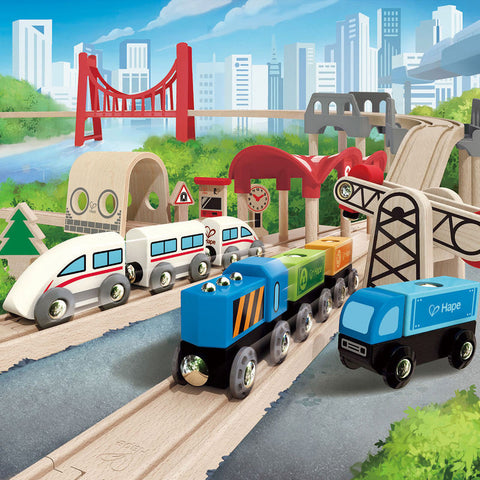 Double Loop Railway Set - Finnegan's Toys & Gifts - 1