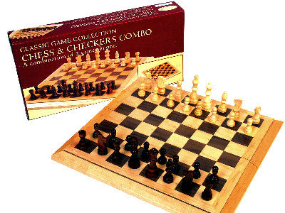 Folding Chess Checker Combo 16'' - Finnegan's Toys & Gifts