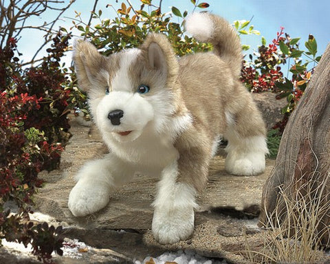 Wolf Pup Puppet - Finnegan's Toys & Gifts