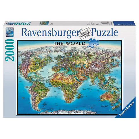 Ravensburger - World Map Puzzle (2000 pcs)