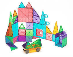 Magna-Tiles Clear Colors 48 Piece DX Set - Finnegan's Toys & Gifts