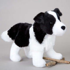 "Douglas Meadow Border Collie 8"" Plush - Finnegan's Toys & Gifts"