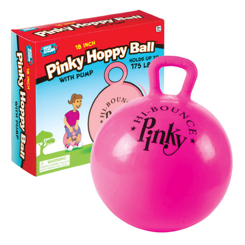 "18"" Pinky Hoppy Ball with Pump"