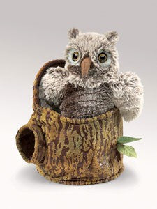 Owlet in Tree Sump Puppet - Finnegan's Toys & Gifts