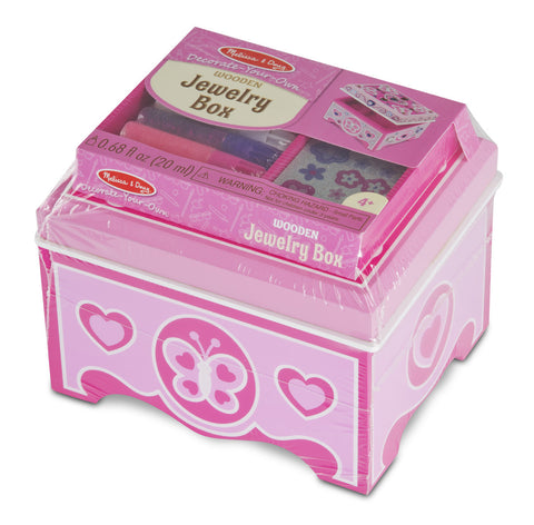 Decorate-Your-Own Wooden Jewelry Box - Finnegan's Toys & Gifts