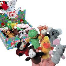 Small Plush Finger Puppets Asst. - Finnegan's Toys & Gifts