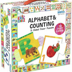 Eric Carle ABC/123 2-sided Floor Puzzle