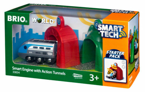 BRIO 33834 - Smart Tech Engine with Action Tunnels