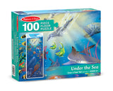 Under the Sea Floor Puzzle - 100 Pieces - Finnegan's Toys & Gifts - 1