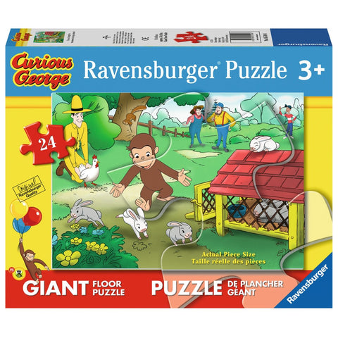 Ravensburger - Curious George Fun Floor Puzzle (24 pcs)