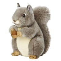 Miyoni Grey Squirrel 10'' -- Aurora - Finnegan's Toys & Gifts