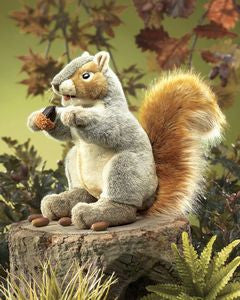 Gray Squirrel Hand Puppet - Finnegan's Toys & Gifts