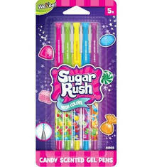 Sugar Rush 5pk Neon Candy Scented Gel Pens - Finnegan's Toys & Gifts