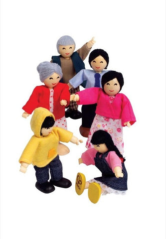 Hape Happy Family - Asian - Finnegan's Toys & Gifts