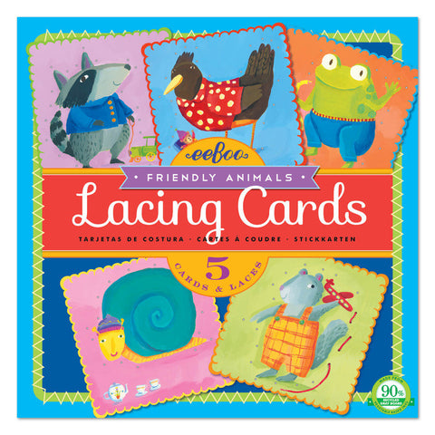 Friendly Animals Lacing Cards - Finnegan's Toys & Gifts