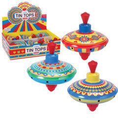 Mini Tin Top Assorted Styles - Finnegan's Toys & Gifts