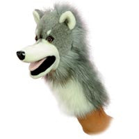 Wolfgang 10'' Wolf Puppet - Aurora - Finnegan's Toys & Gifts