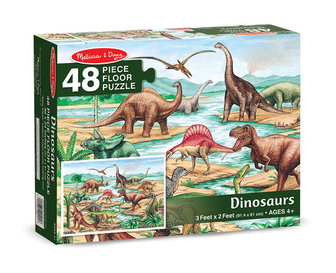 Dinosaurs Floor Puzzle (48 pc) - Finnegan's Toys & Gifts
