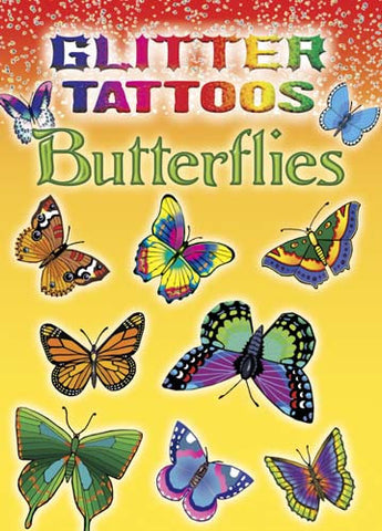 Glitter Butterfly Tattoos - Tattoo Book - Finnegan's Toys & Gifts