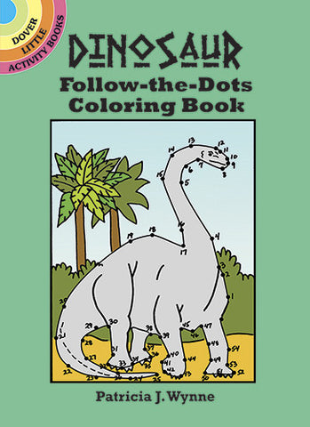 Dinosaur Follow the Dots - Coloring Book - Finnegan's Toys & Gifts