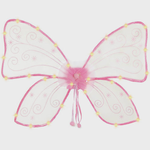 Magical Light Up Wings Hot Pink