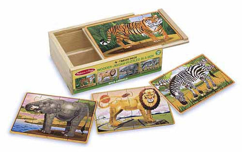 Wild Animals Jigsaw Puzzles in a Box - Finnegan's Toys & Gifts