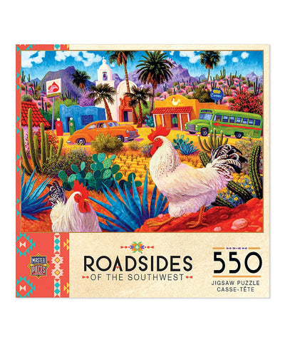 Gallos Blancos - MasterPieces Roadsides of the Southwest - 550 pc Puzzle