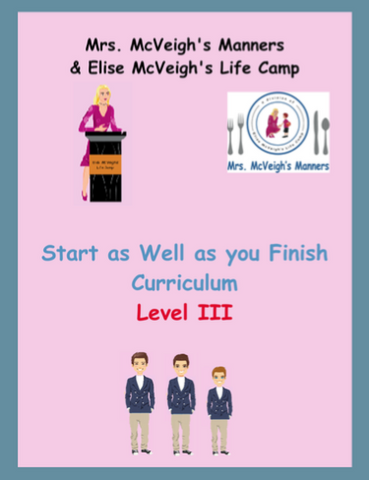 Start as Well as you Finish Curriculum Level III