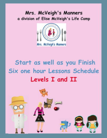 Start as Well as you Finish Curriculum Six one-hour Class Lesson Plans Level I and Level II