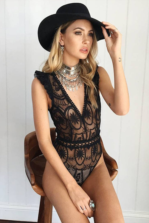 BELLA BLACK BODYSUIT