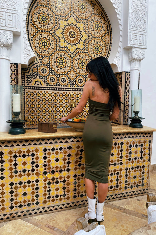 RASHA GREEN DRESS