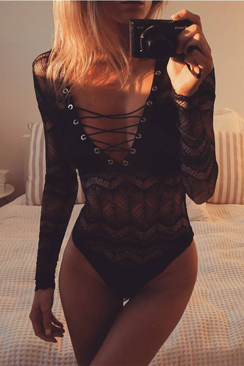 SELENA BLACK BODYSUIT