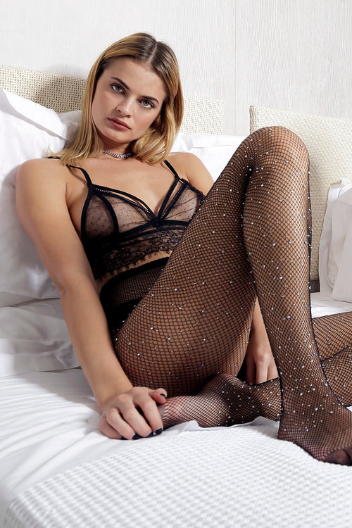 SHINY BLACK TIGHTS