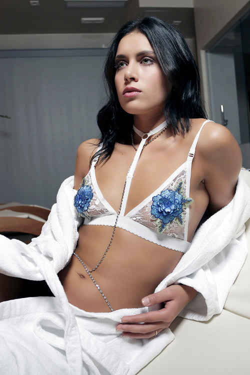 ROSE BLUE BRA