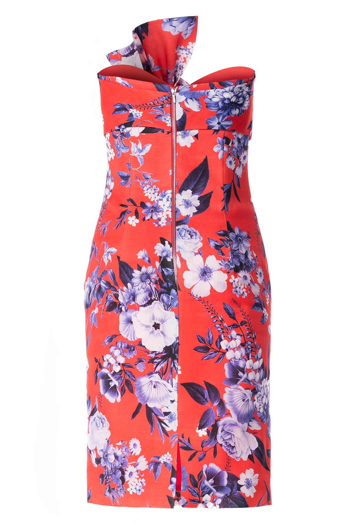 Limited Edition Floral Print Silk Gazar Bow Dress