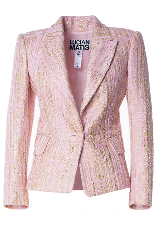 Pink Gold Tweed Jacket