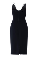 Spaghetti Strap V-Neck Sheath Dress