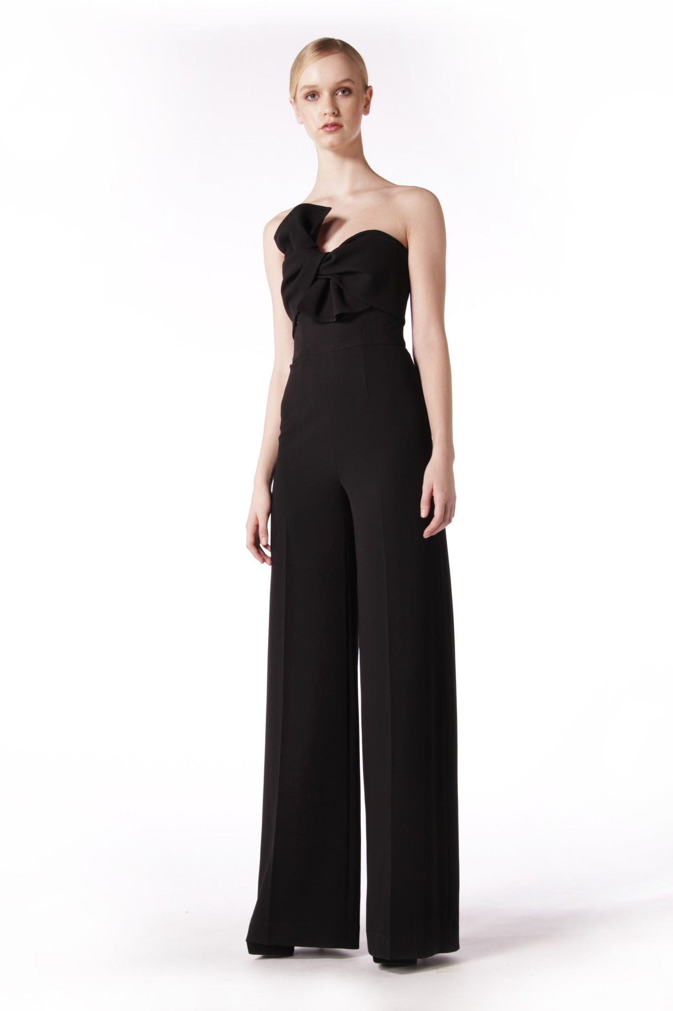 Strapless Bow Jumpsuit