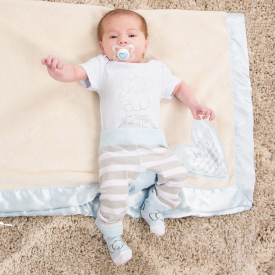 Baby Boy Royal Plush Baby Blanket Baby Blanket Comfort Blankets - GigglesGear.com