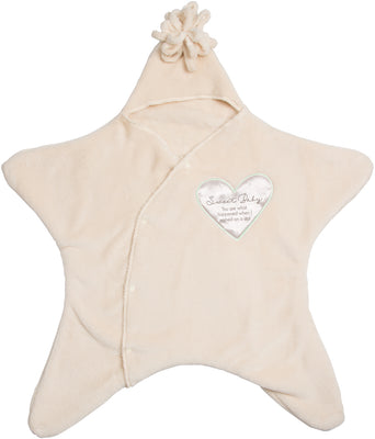 Sweet Baby You are what happened when I wished on a star Comfort Snuggler Baby Blanket