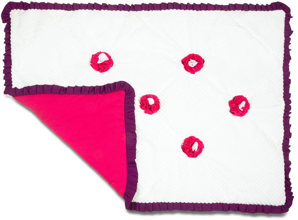 Grape Jelly Ribbed Chenille Baby Blanket Baby Blanket Itty Bitty & Pretty - GigglesGear.com