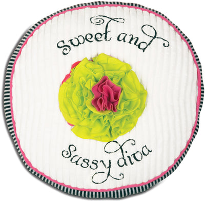Sweet and Sassy Diva Round Baby Pillow