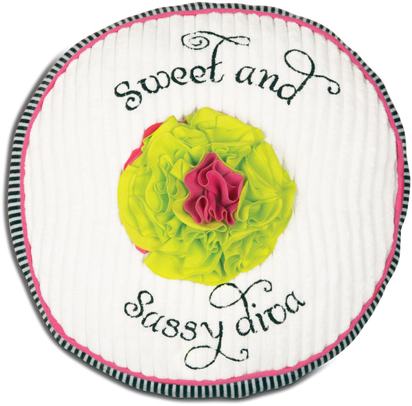 Sweet and Sassy Diva Round Baby Pillow Pillow Itty Bitty & Pretty - GigglesGear.com