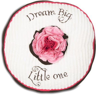 Dream Big Little One Strawberry Sundae Round Baby Pillow